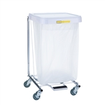 "R&B Wire Single Medium Duty Hamper w/ Foot Pedal - 32"" High"