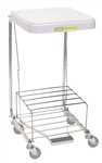 "Wire Elevated 7"" Shelf for 692 Hamper (new style), Reduces Bag Capacity"