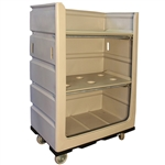 "R&B Wire 48 Cu. Ft. Turnabout Truck, Plastic Shelves (48""x29""x 68""H)"