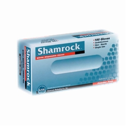 Shamrock 80000 Series Industrial Nitrile Gloves, Fully-Textured, Blue, Powder-Free, Medium (100 per Box)