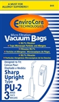 Sharp Replacement Style PU-2 Paper Bags (3 pk) 844