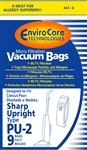 Sharp Replacement Style PU2 Paper Bags (9 pk) 844-9