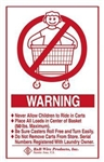 Wall Mounted Warning  Sign - English, # 903E