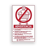 Wall Mounted Warning Sign - Spanish