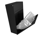 S.A.C. Sanitary Napkin & Tampon Disposal Receptacle -Black Powder coated steel- 1 Unit # 9200BK