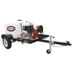 SIMPSON Trailer, Cold Water 4200 PSI Mobile Pressure Washer  w/ HONDA GX390 # 95002