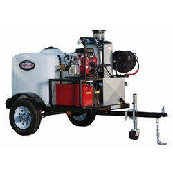 SIMPSON Trailer, Hot Water 4000 PSI Mobile Pressure Washer w/ HONDA GX390 # 95005