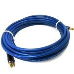 1/4 Blue smooth 3,000 psi solution hose w/ MP-04-04's and bend restrictor sleeves, 25'