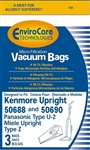 Kenmore Bag Paper 50688 Style U Micro (3 Pk) Envirocare Replacement W/Closure