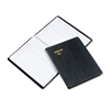 AT-A-GLANCE Visitor Register Book, Black Simulated Leat