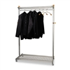 Alba Two-Sided, Two-Shelf Coat Rack, Six Hangers/Six Ho