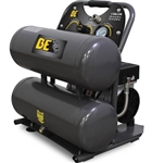 BE Pressure 4 Gallon Twin Tank Oiless Compressor  # AC104