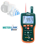 Extech Pinless Moisture Psychrometer With IR Thermometer with Meterlink MO297