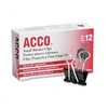 ACCO Small Binder Clips, Steel Wire, 5/16 Cap., 3/4w,