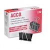 ACCO Large Binder Clips, Steel Wire, 5/16 Capacity, 2