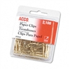 ACCO Paper Clips, Wire, No. 2 (1-1/8), Gold Tone, 100/