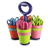 Westcott Scissor Caddy w/24 5 Kids' Pointed Scissors,