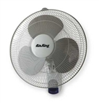 "Air King 9046 16"" Commercial Grade Oscillating Wall Mount Fan with Remote Control"
