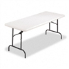 Alera Resin Folding Table, Rectangular, 500lb Capacity,