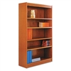 Alera Square Corner Bookcase, Finished Back, Wood Venee