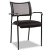 Alera Eikon Series Stacking Mesh Guest Chair, Black, 2/