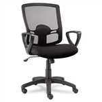 Alera Series Mesh Mid Back Swivel/Tilt Chair  Black # A