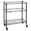 Alera Two-Tier Rolling File Cart, 26w x14d x 30h, Black