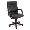 Alera Madaris High Back Swivel/Tilt Leather Chair w/Woo