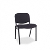 Alera ReceptIONStyle Stacking Chairs w/Black Fabric Uph