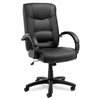 Alera Strada Series High-Back Swivel/Tilt Chair w/Black