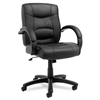 Alera Strada Series Mid-Back Swivel/Tilt Chair w/Black