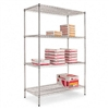 Alera Industrial Wire Shelving Starter Kit, 4 Shelves,