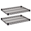 Alera Industrial Wire Shelves, Black, 18 x 24, 2/Pack #