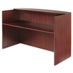 Alera® Valencia Series Reception Desk w/Counter, 71w x 35-1/2d x 44-3/4h, Mahogany # ALEVA327236MY