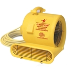 Bissell Air Mover 1/3 HP 3 speed 2,400 / 2,700 / 3,000 CFM, Stackable, 25' Hospital Grade Yellow Safety Cord With Grounded 3 Prong Plug, AM10.D