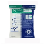 Royal Y Micro Lined Replacement Vacuum Bags For Upright Commercial Vacuum, 7 Pack, AR10140