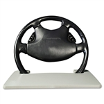 AutoExec® Automobile Steering Wheel Attachable Work Surface, Gray # AUE13000