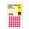 Avery Removable Self-Adhesive Color-Coding Labels, 1/2i