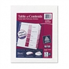 Avery Ready Index Table/Contents Dividers, Five-Tab, Le