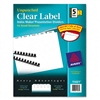 Avery Index Maker Clear Label Unpunched Divider, Five-T
