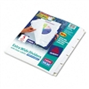 Avery Index Maker Wide Label Punched Divider, Five-Tab,