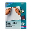 Avery Index Maker Clear Label Punched Dividers, Three-T