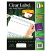 Avery 100% Recycled Index Maker Dividers, White 8-Tab,
