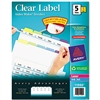 Avery Index Maker Clear Label Contemporary Color Divide