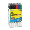 Marks-A-Lot Pen Style Whiteboard Markers, Fine, Assorte
