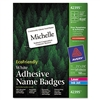 Avery Self-Adhesive ECOFriendly Name Badge Labels, 2 1/