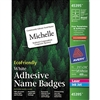 Avery Self-Adhesive Name Badge Labels, 100% Recycled, 3