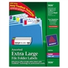 Avery Extra-Large 1/3-Cut Filing Labels, 3-7/16 x 15/16
