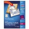 Avery Shipping Labels with Paper Receipt, 5 1/2 x 8 1/2