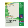 Avery Permanent Adhesive Laser/Inkjet File Folder Label